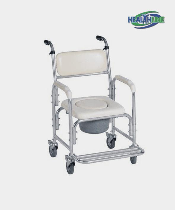Aluminum Shower Chair/Commode W/Wheels