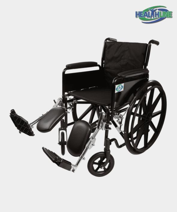 Standard Wheelchair W/Full Arm Padded & ELR K2