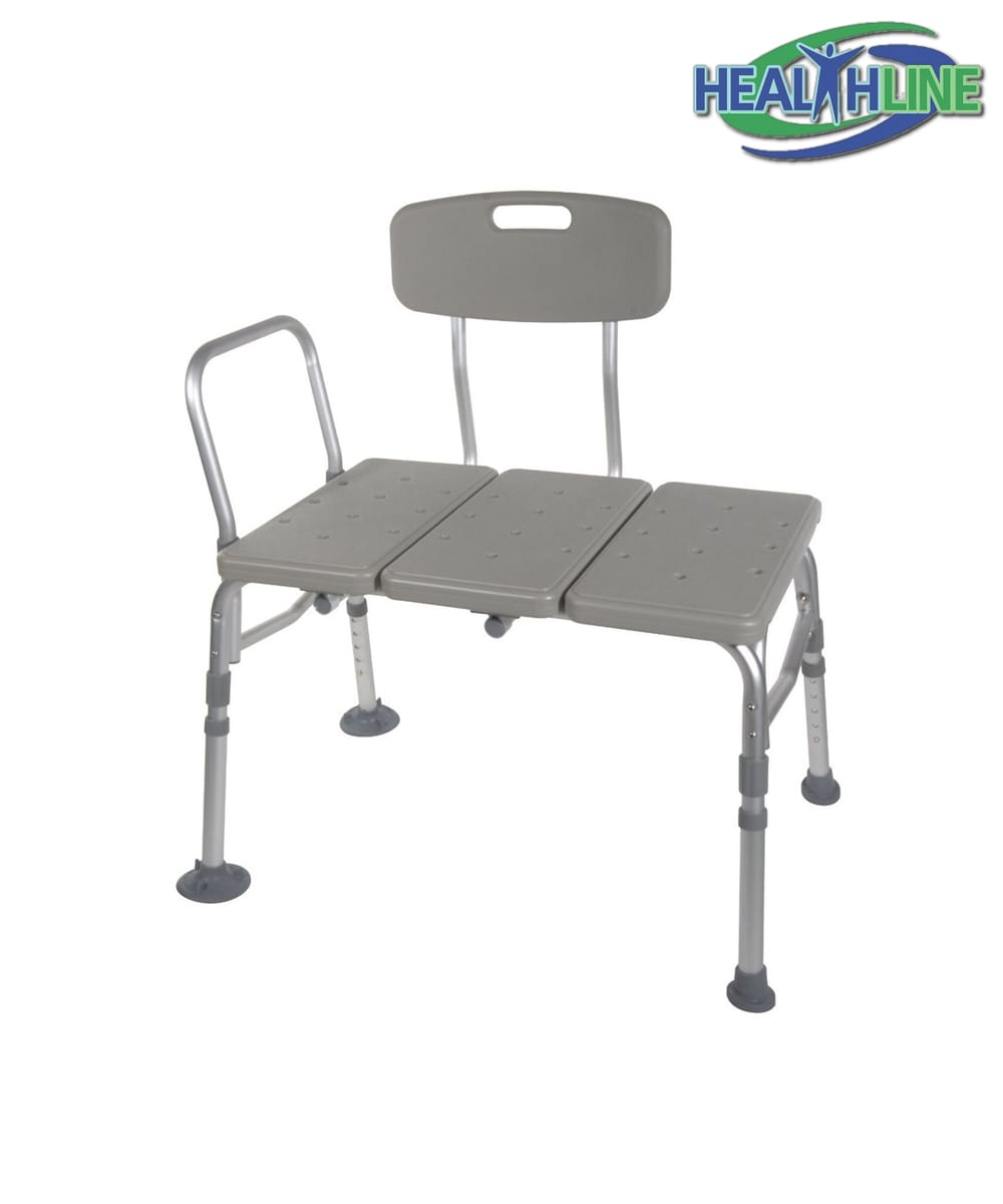 Transfer Bench Adjustable Height Legs, Lightweight with Back Non ...