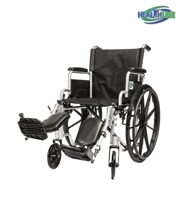 Standard Wheelchair W/Desk Arm Padded & ELR K1