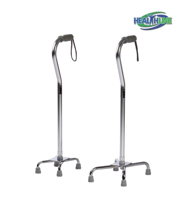Quad Cane Large Base Soft Grip w/Adjustable Height