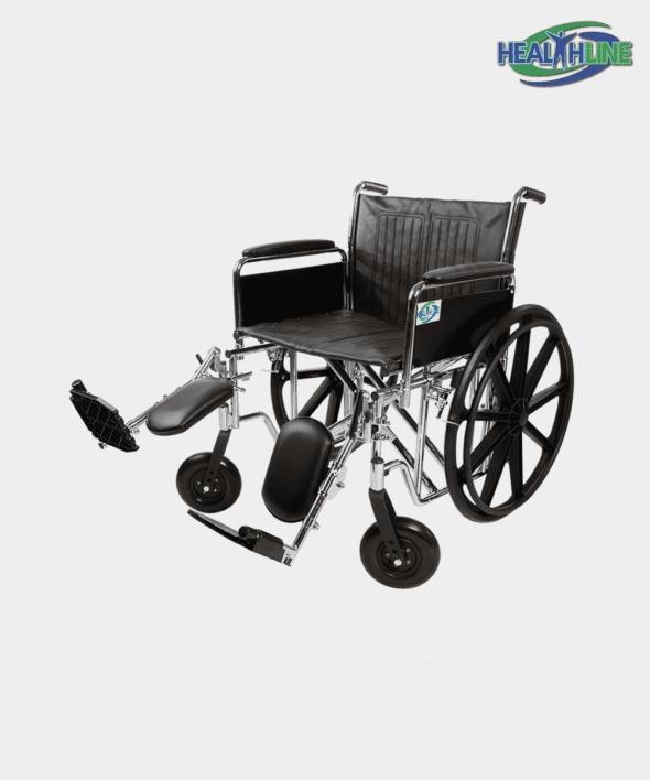 Heavy Duty Bariatric Wheelchair W/Full ARM PADDED & ELR K7