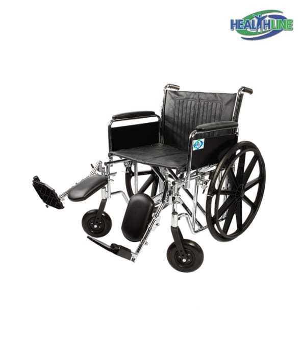 Heavy Duty Bariatric Wheelchair W/Desk Arm Padded & ELR K7
