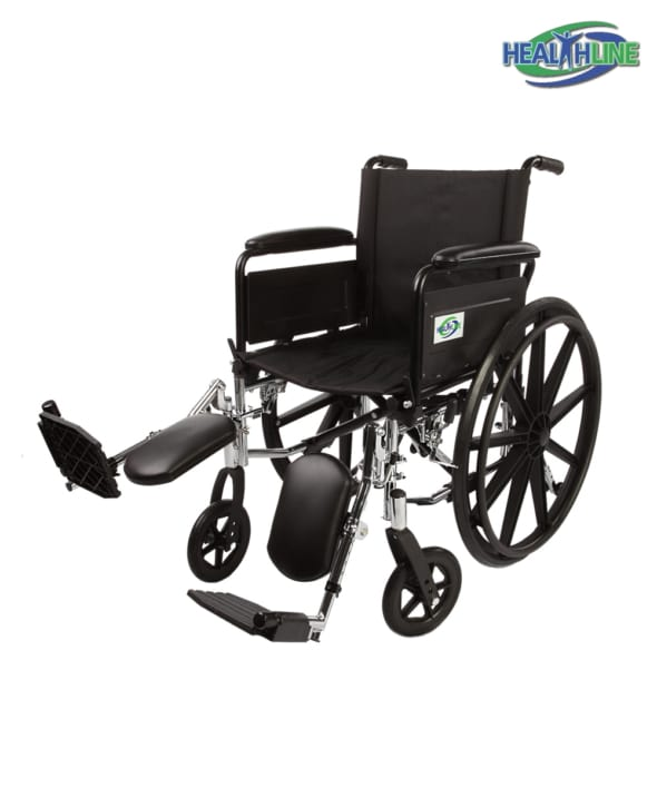 Lightweight Wheelchair W/Full Arm Padded & ELR K4