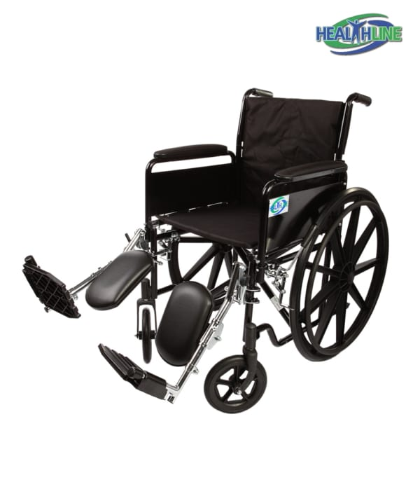 Standard Wheelchair W/Full Arm Padded & ELR K1