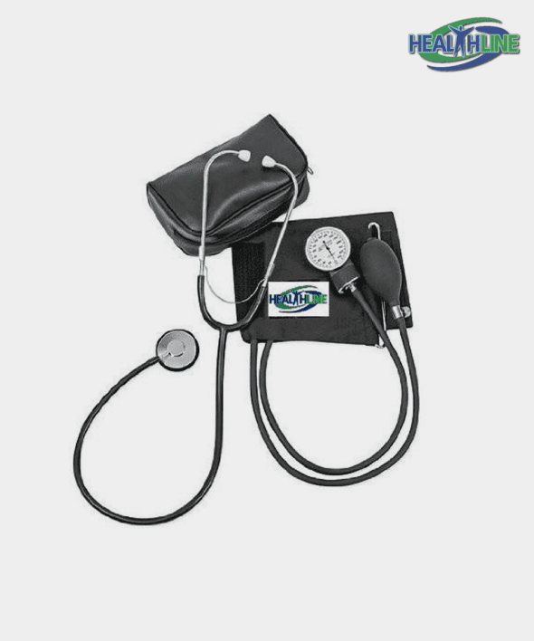 Blood Pressure Monitor Adult Manual W/Attached Stethoscope And Extra Large Cuff