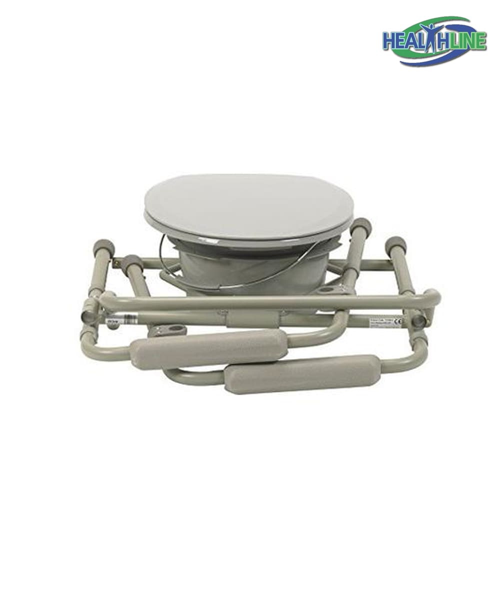 Commode Chair Folding Bedside Commode Seat W Splash Guard