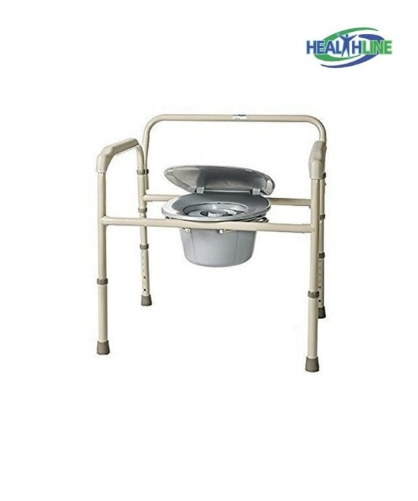 Heavy Duty Bedside Commode with Adjustable Legs