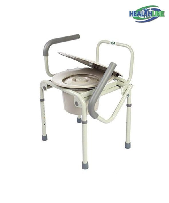 Commode Drop Arm 3 In 1 w/Adjustable Legs