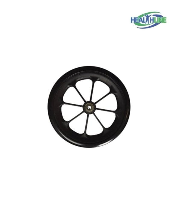 Wheel Replacement For Wheelchairs, 8 inch by 1 inch Black
