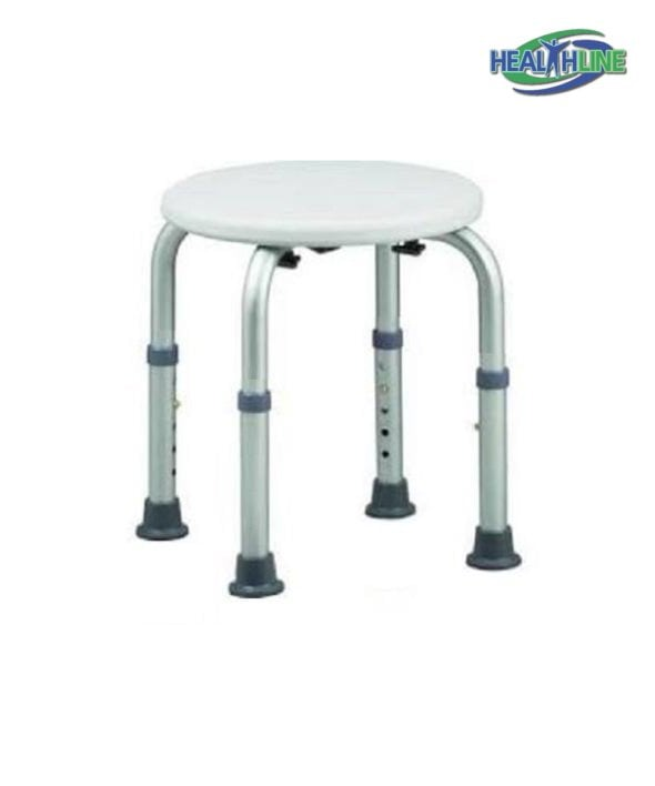 Round Bath Bench Adjustable Lightweight Shower w/ Non-Slip Seat