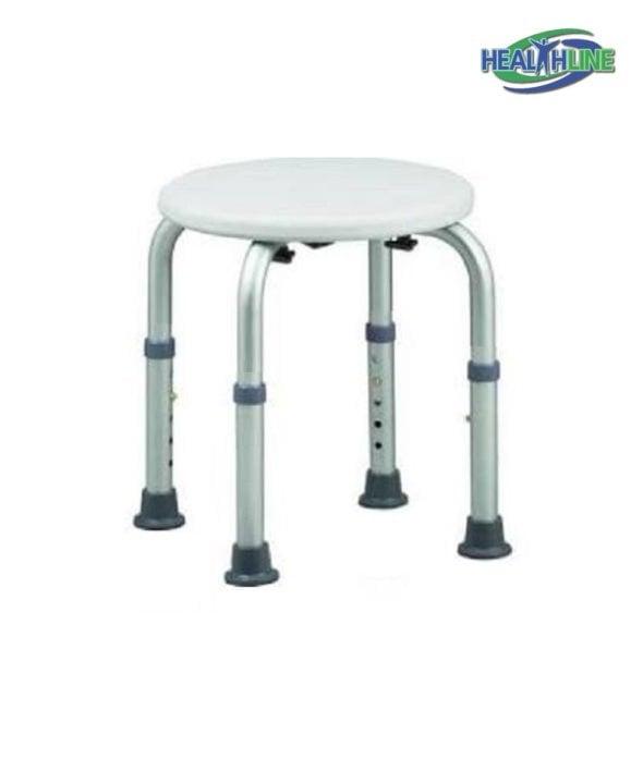 Round Bath Bench Adjustable Lightweight Shower w/ Non-Slip Seat