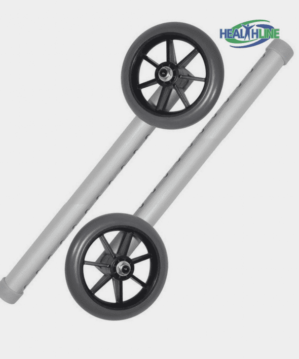 5″ Universal Wheels 11 Hols Replacement Kit for Walker W/glide Tips 1/pr