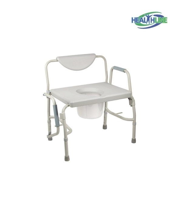 Heavy Duty Drop Arm Bariatric Commode w/Adjustable Legs