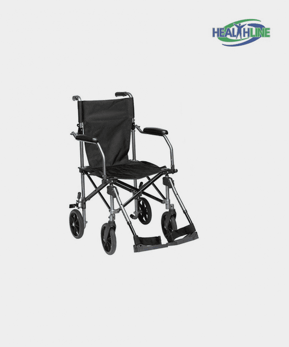 Transport Wheelchair Light Weight With Carrying Bag