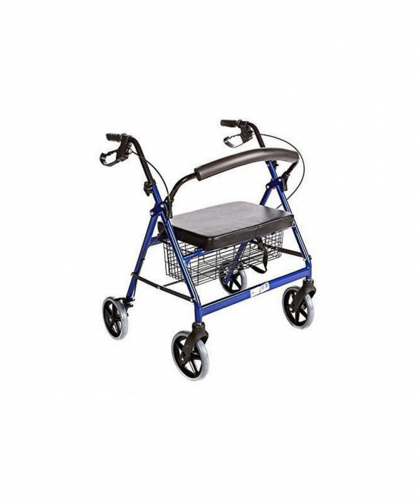 Bariatric Rollator Walker with Seat Heavy Duty 400 Lbs