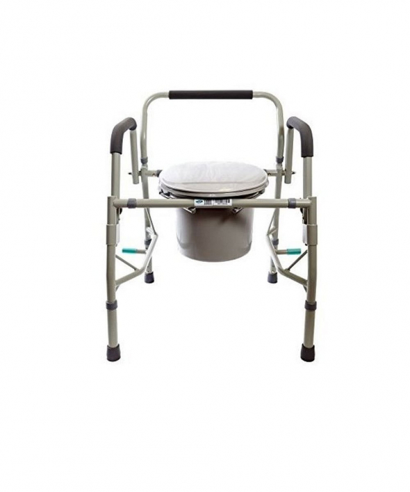 Drop Arm Bedside Commode with Adjustable Legs