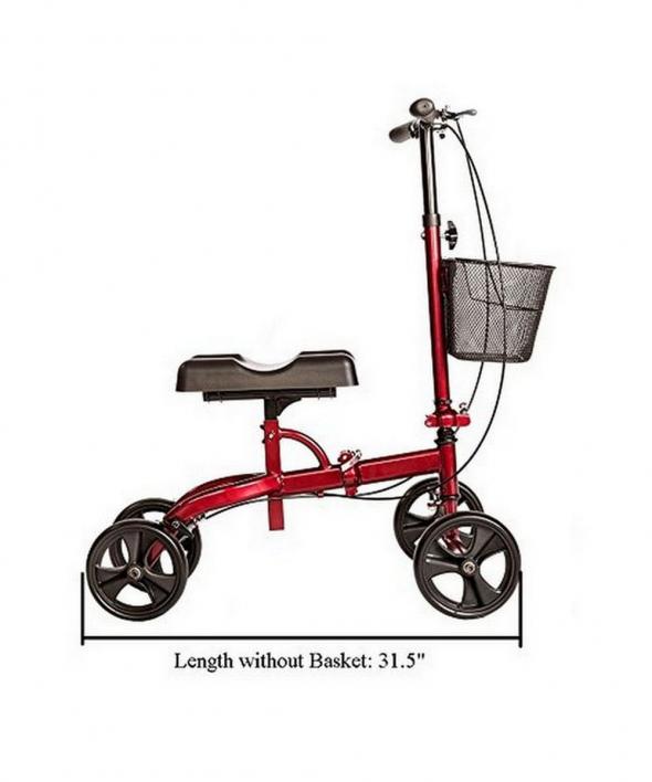 Medical Knee Scooter for Broken Foot Red