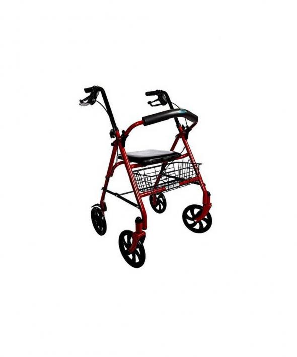 Walker Rollator with Four Wheels