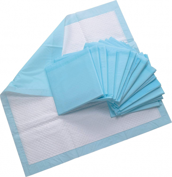 Healthline (Chux) Disposable Underpads 23 x 36, Waterproof Blue, 50/Pack