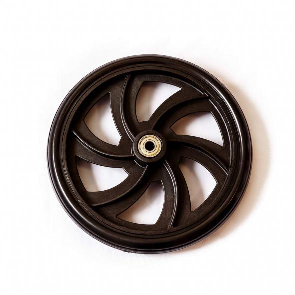 Wheels for Walker Rollator, HEALTHLINE Medline Drive Rollator Wheels Replacement, Walker Rollator 8 Inch Wheels – 7.5 Inch Casters Replacement Wheels for Walkers Seniors, Indoor-Outdoor, Black, Pair